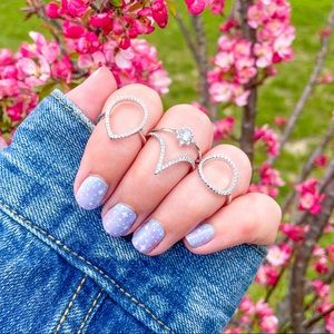 LAST 1 Northern Star Sterling Silver Ring Set